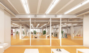 Bilder des zweiten Stockwerks Neubbau Switzerland Innovation Park BielBienne (1)