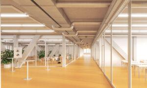 Bilder des zweiten Stockwerks Neubbau Switzerland Innovation Park BielBienne (2)
